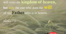"""Not everyone who says to me, 'Lord, Lord,' will enter the kingdom of heaven, but only the one who does the will of my Father who is in heaven. Matthew 7:21"